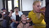 Busty slave getting fucked and pissed in public's Thumb