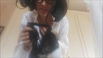 Watch perverted boy! I'm your mother, you can't use my thong_to ejaculate! come_here i'll teach you education preview