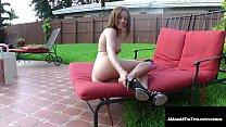 Brunette Girl Next Door Jasmine Wolf gets her s...