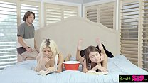 BrattySis - Tricked Horny Sis And Teen Friend Into Threeway's Thumb
