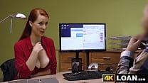 Busty redhead seduces her hung creditor Thumbnail