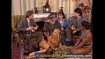 Wild vintage interracial orgy with immigrant sluts