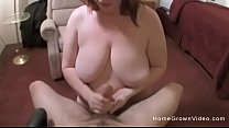 Chubby amateur with big natural tits jerking of...