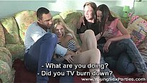 Cream and coffee home sex party Nataly Gold, Lindsey Olsen Thumbnail