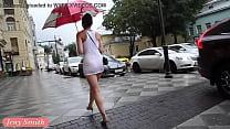 Jeny Smith white see through mini dress in public. Thumbnail