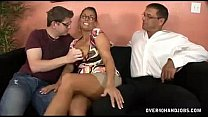 Watch two big horny dicks for ebony MILF preview