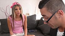 Teacher Can't Handle Teen Babe Gina's Tight Pussy And Creams Onto Asshole's Thumb
