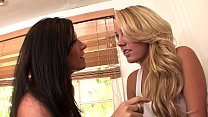 Watch Stunning milf India Summer with raven-black hair shows_cute blonde bombshell Brett Rossi some dirty tricks preview