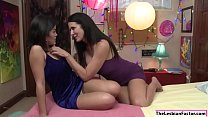 Asian Kendra Spade pussy licked by her friends lesbian stepmom