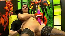 Watch German horny and wet slut in black stocking with amazing big tits gets anal with_cumshots facials and bukkakes and she gives blowjobs on hard big cocks preview