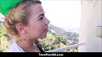 Young Blonde Teen Girlscout With Small Tits Creampied Thumbnail
