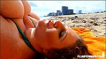 BBW Legend Sapphire Tans and Gets Fucked at the Beach's Thumb