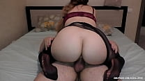 Step Sister loves to wear pantyhose and ride my...