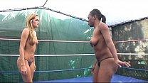 Interracial Catfight_between Blonde and Ebony Billyon Thumbnail