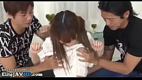 Jav lovely teen has threesome and creampie