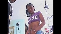 Young booty black slut Jasmine Sky takes strong...