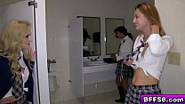 Horny blonde teen is craving for big college co...