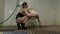 Watch Babe gets enema and_squirts in femdom preview