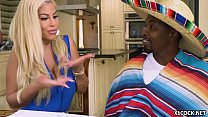 Huge Tits Spanish Whore Rides a Big Black Cock's Thumb