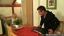 Watch His old mother in law is horny bitch! preview