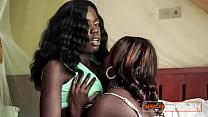 Black lesbian lovers fingering and tribbing pas...