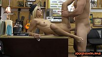 Tight amateur blonde babe sucks off and gets he...