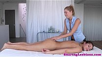 Watch Lesbian masseuse in couple_fingers_girlfriend preview