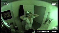 Watch Beautiful Busty Milf Julia Ann dresses up as a nurse & fucks her horny client who films this hot sexual encounter! Super Sexy Spycam Clip! preview