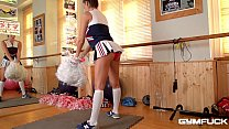 Gym fuck shows top-heavy curvy college girl Sensual Jane till her pink with sex toy's Thumb