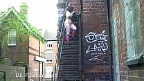 Outdoor flashing and public masturbation of fat bbw_amateur Nimue in the streets Thumbnail