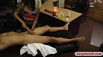 Slim amateur asian babe gets her pussy fucked h...