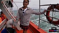 Amateur Thai GF taken to an island where she su...