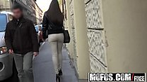 Tasty brunette picked up on street and fucked
