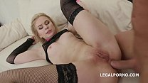 Barely legal schoolgirl Danna Ray anal fucked u...
