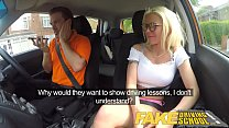 Fake Driving School Sexy busty blonde babe creampied on first lesson Thumbnail
