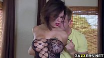 Peta Jensen goes on top of Bill Bailey like a cherry's Thumb