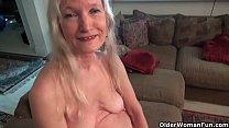 American gilf Lilli enjoys wearing sexy lingeri...
