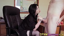 Cfnm amateur sucks dick