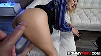 Blonde milf mom trying to comfort stepson after...