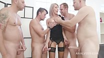 Vicky Sol 4on1 wild with Balls Deep Anal, DAP, ...