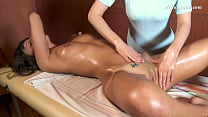 Orgasmic oil massage of Marusya by the cutest m...