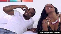Ebony Babe Mocha Menage's blows Black Bull Rome...
