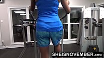 Big Tits Cute Black Girl Hardcore Sex In Gym صورة