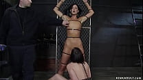 Two hot brunette slaves MILF India Summer and b...