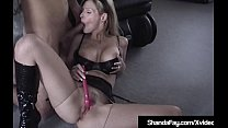 Horny Hot Housewife Shanda Fay gets a milky creampie after being anal fucked while masturbating with a sex toy! Thumbnail