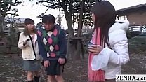 Subtitled crazy public Japanese crossdressing f...