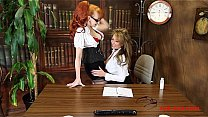 Two British_MILFs play in the_office Thumbnail