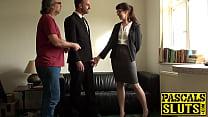 Submissive lady anal fucking maledom