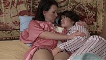 Watch Brunette lesbians playing with their pussies preview