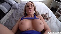 Busty MILF shows off her fucking skills with stepson's Thumb